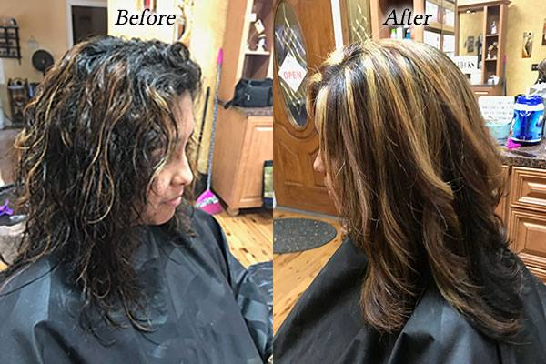 Hair Before and After Photos